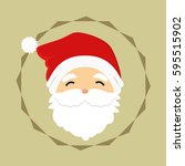 happy santa claus vector. | Shutterstock .eps vector #595515902