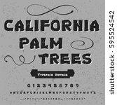 font handcrafted vector script... | Shutterstock .eps vector #595524542
