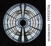 domed circular ceiling... | Shutterstock . vector #595525706