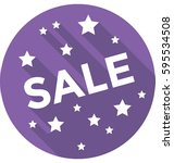 sale vector icon  | Shutterstock .eps vector #595534508