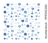 pattern with social icons....