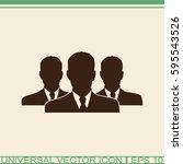 three businessman silhouettes   ... | Shutterstock .eps vector #595543526
