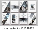 a4 brochure cover design.... | Shutterstock .eps vector #595548422