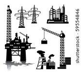 set of vector silhouette images ...   Shutterstock .eps vector #59554846