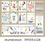 card template collection for... | Shutterstock .eps vector #595551128