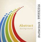 colored stripes with circles.... | Shutterstock .eps vector #595552316