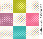 seamless multicolor patterns... | Shutterstock .eps vector #595557152