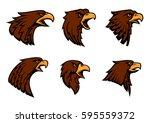 hawk vector icons for sport...   Shutterstock .eps vector #595559372