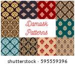 Floral Damask Pattern Of...