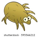 cartoon dust mite | Shutterstock .eps vector #595566212