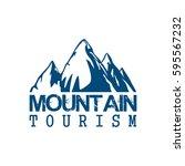 alpine mountain vector icon of... | Shutterstock .eps vector #595567232