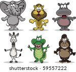 a collection of 6 african... | Shutterstock .eps vector #59557222