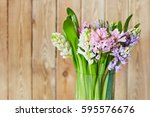 spring background with... | Shutterstock . vector #595576676