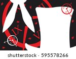 alice in wonderland. background.... | Shutterstock .eps vector #595578266