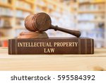 intellectual property law books ... | Shutterstock . vector #595584392