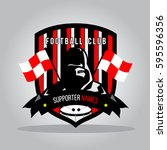 red and black football club... | Shutterstock .eps vector #595596356