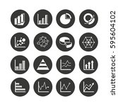 graph and chart icon set in...