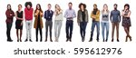group of full body people | Shutterstock . vector #595612976