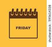 friday icon. fri and calendar ...