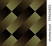 halftone seamless pattern ... | Shutterstock .eps vector #595624832