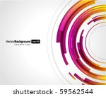 abstract technology circles... | Shutterstock .eps vector #59562544