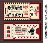 circus show horizontal tickets... | Shutterstock .eps vector #595626386