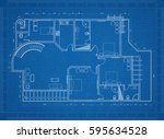 apartment blueprint  | Shutterstock . vector #595634528