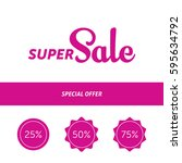 super sale banner template...   Shutterstock .eps vector #595634792