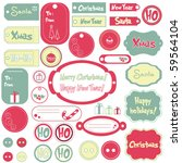set of christmas design frames... | Shutterstock .eps vector #59564104