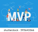 mvp vector illustration of... | Shutterstock .eps vector #595643366