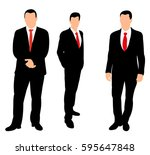 silhouette of a business man... | Shutterstock .eps vector #595647848
