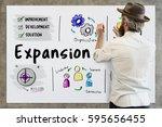 new business market venture...   Shutterstock . vector #595656455