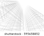 architectural drawing 3d... | Shutterstock . vector #595658852