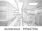 abstract white interior... | Shutterstock . vector #595667336