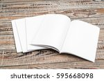 blank catalog  magazines book... | Shutterstock . vector #595668098
