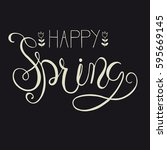 happy spring greeting card.... | Shutterstock .eps vector #595669145