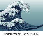 an oriental japanese style... | Shutterstock . vector #595678142