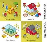 farming life concept 4... | Shutterstock .eps vector #595685522