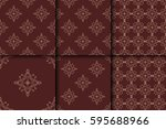 seamless background with... | Shutterstock .eps vector #595688966