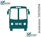 bus icon. schoolbus symbol.... | Shutterstock .eps vector #595703546