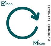 ciircular arrow sign vector... | Shutterstock .eps vector #595706156