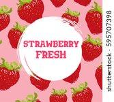 strawberry vector  background... | Shutterstock .eps vector #595707398