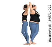 conceptual fat overweight obese ... | Shutterstock . vector #595714022