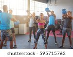 diverse group of people working ... | Shutterstock . vector #595715762