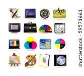 graphic design icon set