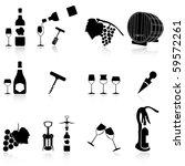 set of wine symbol the shadow... | Shutterstock .eps vector #59572261