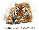 tiger | Shutterstock . vector #595723118