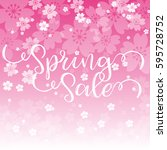 spring sale design graphic... | Shutterstock .eps vector #595728752