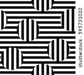 vector monochrome seamless... | Shutterstock .eps vector #595731032