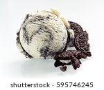speciality american oreo ice... | Shutterstock . vector #595746245